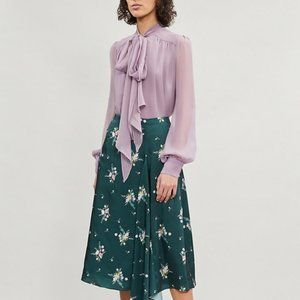 New Ted Baker Anabell Flourish Asymmetric Skirt